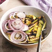 Balzemik Soslu Patlıcan Kabak Sote