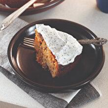 Haşhaş Kremalı Havuçlu Kek