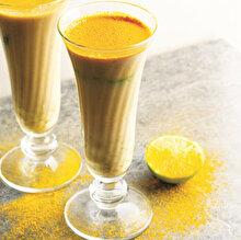 Misket Limonlu Zerdeçallı ve Fındık Sütlü İçecek