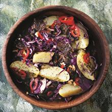 Kuru Domatesli Patates Salatası