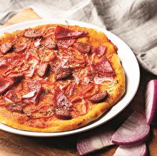 Sucuklu Salamlı Pizza