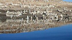 Sular çekilince mezarlıklar yeniden ortaya çıktı