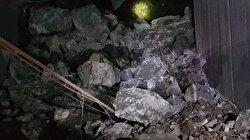 Artvin'de tünel çöktü