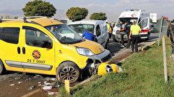 Erzincan'da polis aracıyla taksi çarpıştı: Kazada 2'si polis kişi 3 yaralandı