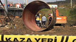Kocaeli'de toprak altında kalan işçi hayatını kaybetti