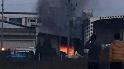 Ordu'da fındık kırma fabrikasında yangın çıktı