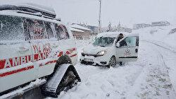 Kayseri'de yolda mahsur kalan 2 diyaliz hastası kurtarıldı