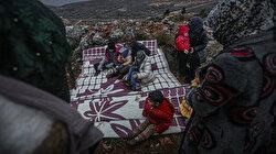 İdlib'teki saldırılar sonucu Türkiye sınırına 3 günde 47 bin sivil daha göç etti