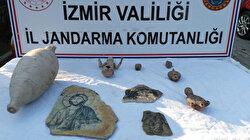 İzmir'de tarihi eser kaçakçılığı operasyonunda 1 şüpheli yakalandı