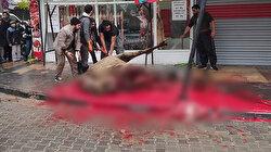 İş yeri önünde deve kesip esnafla kavga eden Iraklı kasap özür diledi