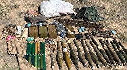 Ağrı Dağı'nda PKK'lı teröristlerin mühimmatları ele geçirildi