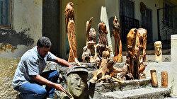 راعي تركي يعيد الحياة لجذوع الأشجار اليابسة