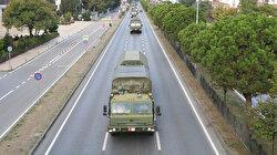 Sinop'ta test atışlarını başarıyla tamamlayan S-400 hava savunma sistemini taşıyan 2. konvoy da Samsun'dan geçti
