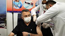 Cumhurbaşkanı Yardımcısı Oktay koronavirüs aşısı yaptırdı