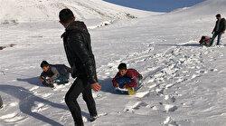 Kars'ta bidonla kayak