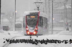 Snowfall in Istanbul started on Friday evening.