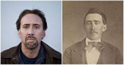 Nicolas Cage and a man from the American Civil War.