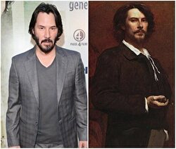 Keanu Reeves and French actor Paul Mounet.
