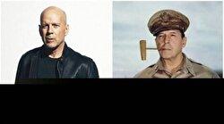 Bruce Willis and World War II General Douglas Macarthur.