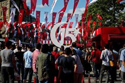 Turkish people commemorate July 15