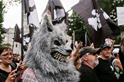 """Far-right group """"La Meute"""" hit the streets in Quebec City to protest migration policies."""