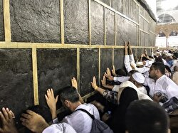 Sometimes tears accompany the prayers of pilgrims having emotional moments at the Kaaba.