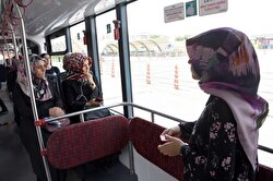 Women's-only pink trambuses introduced in Turkey