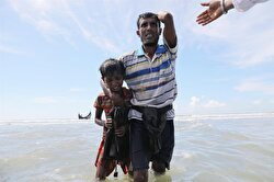 Newly arrived Rohingya refugees