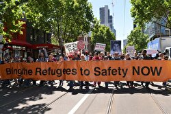 Protest against Australian government in Melbourne