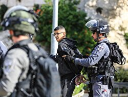 Israeli security forces clash with protesters in occupied West Bank