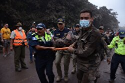At least 25 people were killed and hundreds others injured when the Fuego Volcano, located 40 kilometers (25 miles) off the capital Guatemala City, erupted on Monday