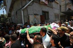 فلسطينيون يشيعون جثامين 4 شهداء سقطوا بأسلحة إسرائيلية