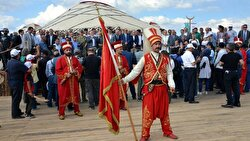 """Turkey's Erzurum kicked off this year's traditional """"Turkic Games Festival"""" with the participation of athletes from Kyrgyzstan amid excitement and jubilation from attendees."""
