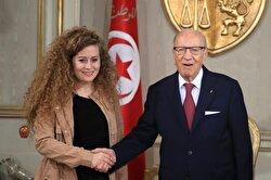 Tunisian president meets teen Palestinian Ahed Tamimi