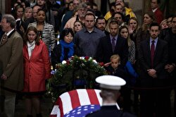 Mourners pay tribute to former US President George H.W. Bush