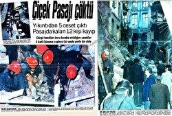 Beyoğlu'ndaki tarihi Çiçek Pasajı çöktü