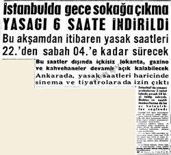 İstanbul'da bir gün sokağa çıkma yasağı ilan edildi