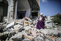 'سجى'.. فنانة فلسطينية تحول أنقاض منزلها للوحات فنية