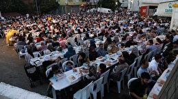 Eyüpsultanda 10 bin kişilik iftar sofrası