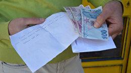 Yıllar önceki borcunu not bırakarak ödedi