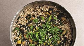 Taze Naneli Patlıcanlı Pilav