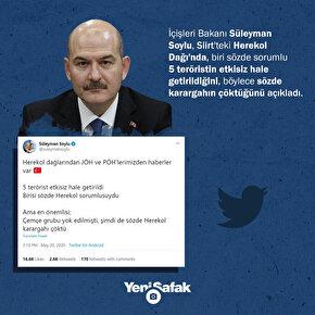 İçişleri Bakanı Soylu: Sözde Herekol karargahı çöktü
