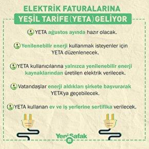 Elektrik faturalarına Yeşil Tarife geliyor.