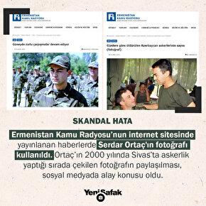 Ermenistan devlet radyosu Serdar Ortaç fotoğrafını Öldürülen Azerbaycan askeri haberinde kullandı