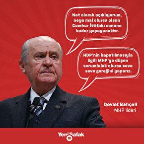 MHP Genel Başkanı Devet Bahçeliden açıklamalar