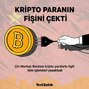 Çin Merkez Bankası kripto paralarla ilgili tüm işlemlerin yasaklandığını duyurdu.