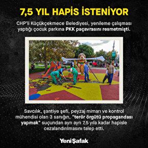 Küçükçekmecedeki çocuk parkında PKK paçavrası: Üç sanığın hapsi istendi