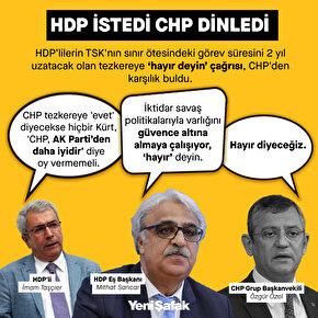 HDP istedi CHP dinledi