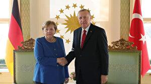 Cumhurbaşkanı Erdoğan ile Merkel'den İstanbul'da önemli açıklamalar