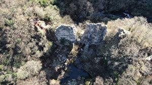 Define avcıları 1600 yıllık tarihi su kemerini dinamitle yıktı